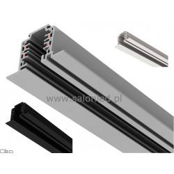 3-circuit lighting track recessed alu, white, black