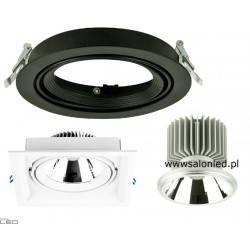Oprawa modułowa LED COB 25W biała, czarna