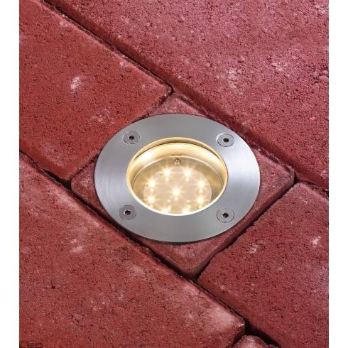 Round Floor recessed light set, special line, 230 V LED Paulmann Warm white, stainless steel, 1 pc. set