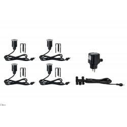 Paulmann Special line MiniPlus Stainless steel, Floor recessed light basic set round, 4 pc. Basicset