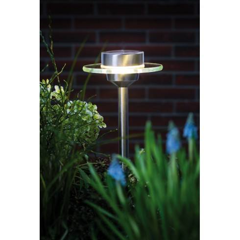 Paulmann Special Line outdoor solar spike, Ufo, LED Stainless steel, Clear, 1 pc. set