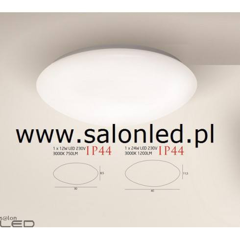 MAXlight MOBITECH C0108, C0109 plafon LED IP44 12W, 24W