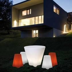 Lampa stojąca zewnętrzna FLOWER PUFA LED (Naturalny)