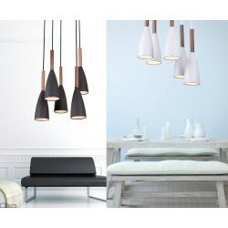 Hanging lamp SOFT P0147WH, P0148BK 5x40W E27 black, white