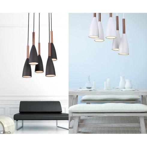 Maxlight SOFT Lampa wisząca P0147WH, P0148BK 5x 40W E27