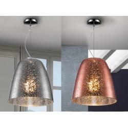 SCHULLER QUASAR 436218, 436229 hanging lamp chrome, copper