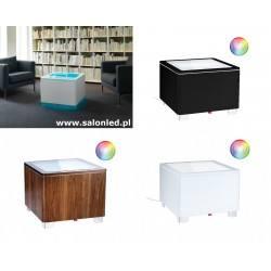 MOREE ORA LED stolik kawowy biały, czarny, orzech