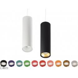 BPM TUBE 9050 LED 6,2W biała, czarna lampa
