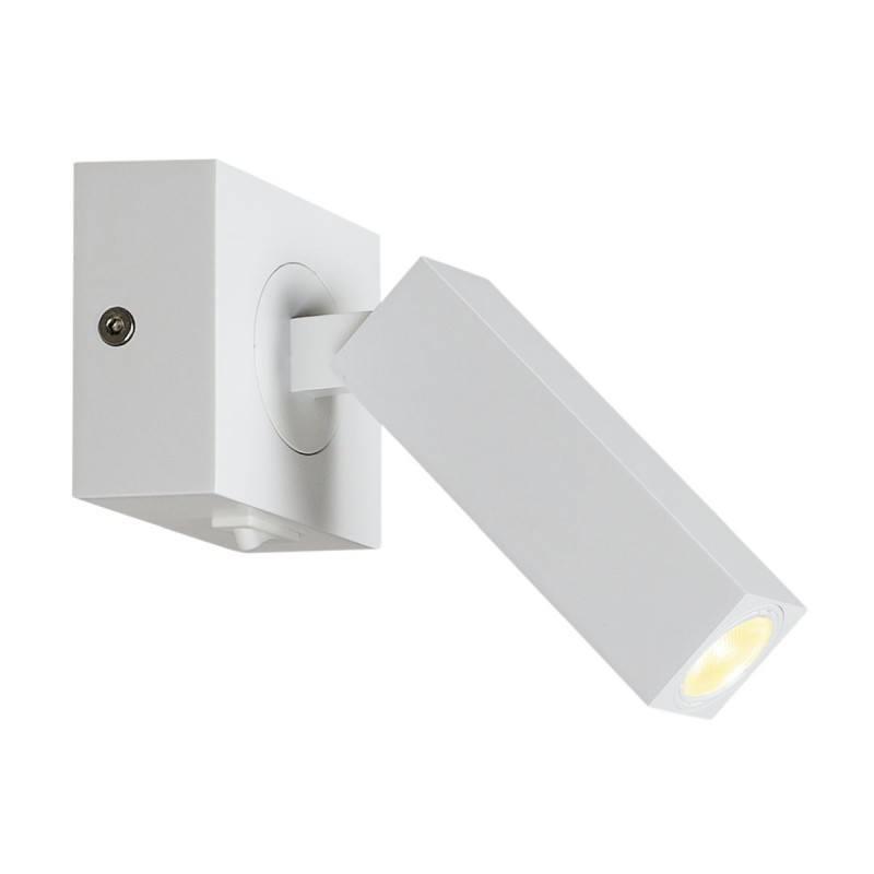 White Box Wall Lights : White, black wall light SLV Stix 146271, 146270 LED 3W