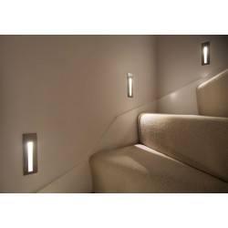 ASTRO Borgo 43 LED schodowa biała, alu, stal nierdzewna