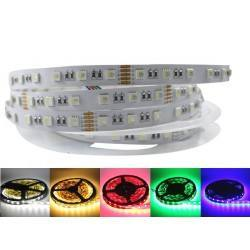 Strip LED RGBW IP20 5m %GB + warm white
