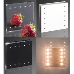 DEMIDIO FOGGIA 10 LED schodowa 230V połysk biały, czarny, lustro