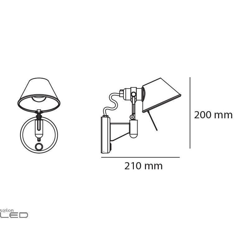 artemide tolomeo micro faretto halo  led e14 or led 8w alu