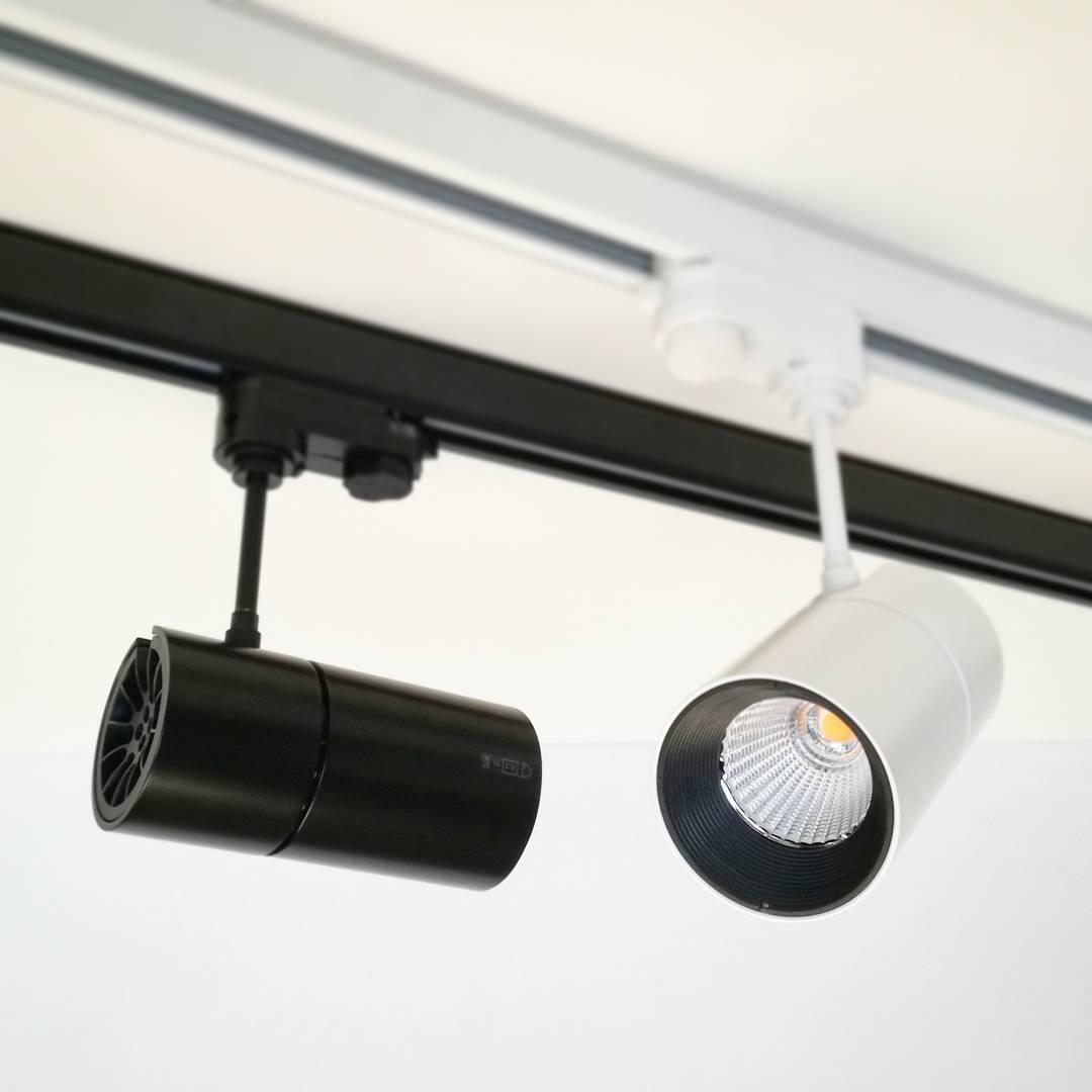 Lampa Led Na Szynę Track Light L1 Moc 15w Biała Czarna Cob