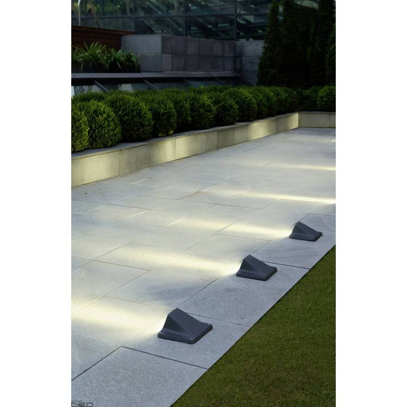 Leds c4 rexel led 4 3w 3000k urban grey wall floor bollard for Salon rexel