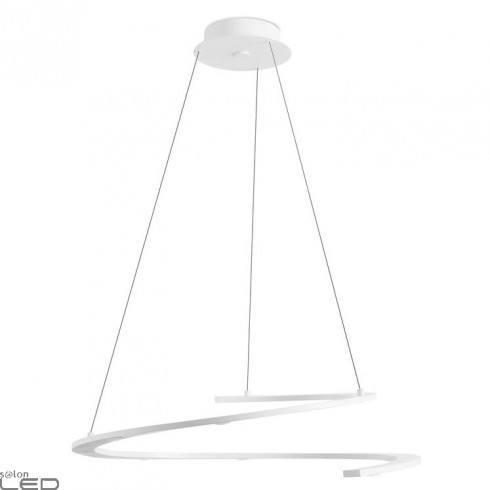 LEDS-C4 CURL biała lampa wisząca LED 24W