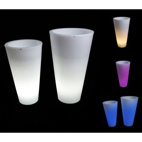 Illuminated LED plant pot DELLA 75cm, 90cm warm, cool, RGB