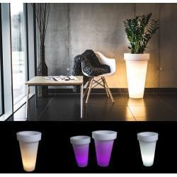 Illuminated LED plant pot PONS 75cm, 90cm warm, cool, RGB