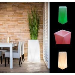 Illuminated LED plant pot NEVIS 75cm, 90cm warm, cool, RGB