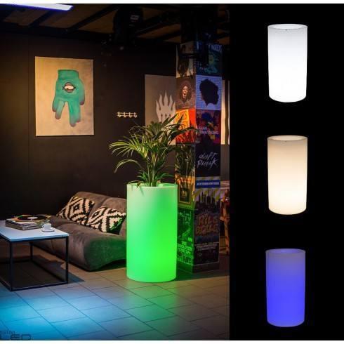 Illuminated LED plant pot TILLA 75cm, 90cm warm, cool, RGB