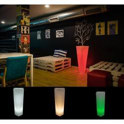 Illuminated LED plant pot ROSSA 75cm, 90cm warm, cool, RGB