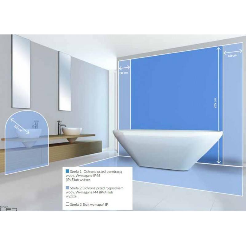 ... LEDS-C4 BUBBLE ceiling bathroom LED lamp 30cm, 37cm chrome
