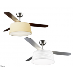 Ceiling fan LEDS-C4 BELMONT with shade white, beige