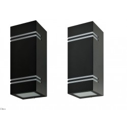 Kobi QUAZAR 7 kinkiet zewnętrzny grafit 2xGU10 IP44