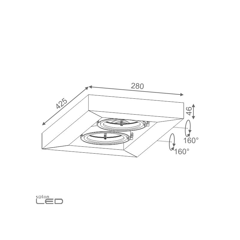 aqform cadva 111x2 wall 23412 elegant double lamp 2xar111