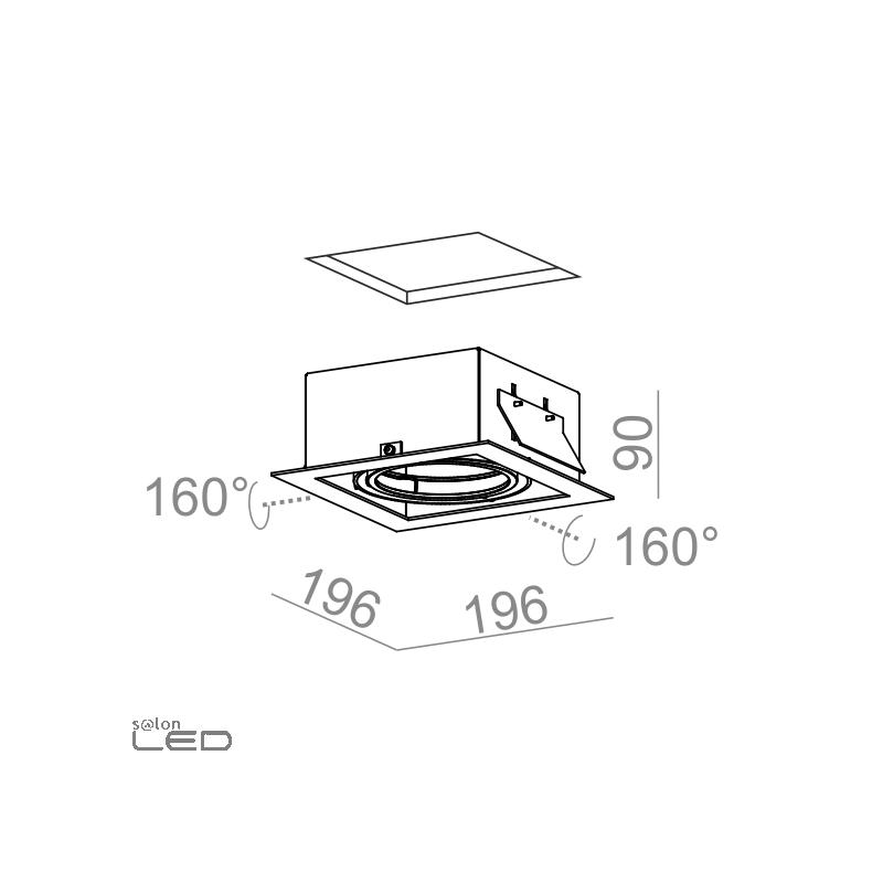 aqform squares 111x1 12v 30511 single with frame alu