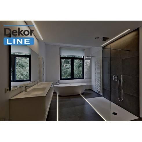 Linia światła Led Dekor Line Wąska Lampa Do Sufitów ścian Podłóg