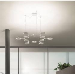 MA&DE QUAD P3 8112, 8113 lampa wisząca LED biała, czarna 91W