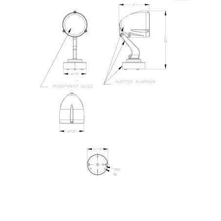 LEDS-C4 ALIEN 05-9296-Z5-37 kinkiet/reflektor IP65 PAR30