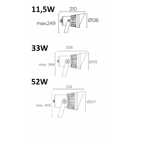LEDS-C4 Hubble COB LED spotlight IP65 33W, 52W 3000K, 4000K