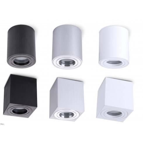 Kobi AQUARIUS mounted lamp IP44 GU10 white black aluminium