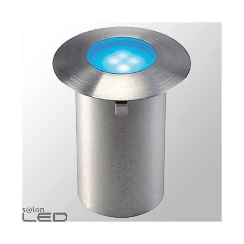Trail-light blue LED lighting for buildings