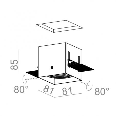 AQFORM SQUARES 50x1 trimless recessed 230V 37011