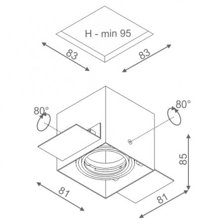 AQUAFORM SQUARES 50x1 trimless recessed 12V 35511