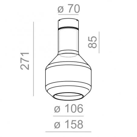 AQFORM MODERN GLASS Barrel E27 natynkowy 40406