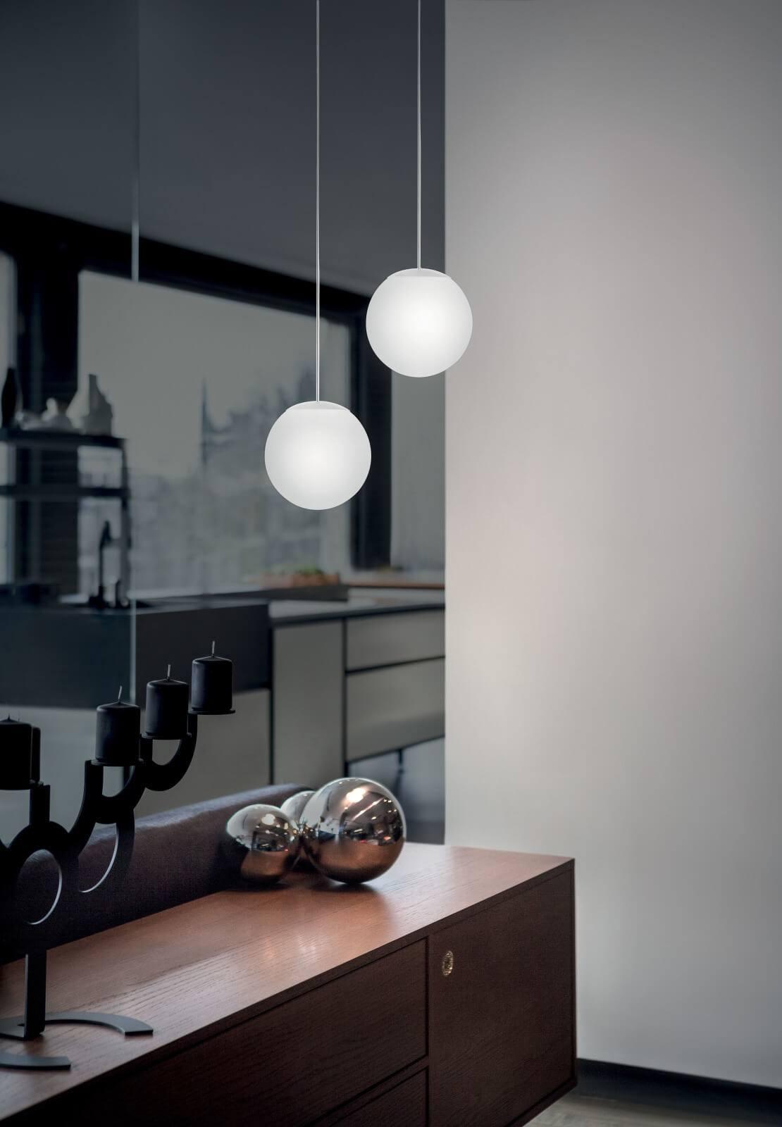LINEA LIGHT OH! P 10114 lampa wisząca kula LED polietylen