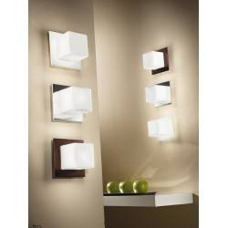 Linea Light CUBIC 6410 wall light white, chrome, wenge