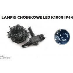 Lampki choinkowe LED białe IP44 z gniazdem