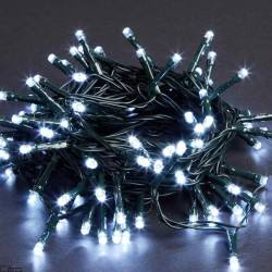 LED Christmas tree lights white IP44 with programmer