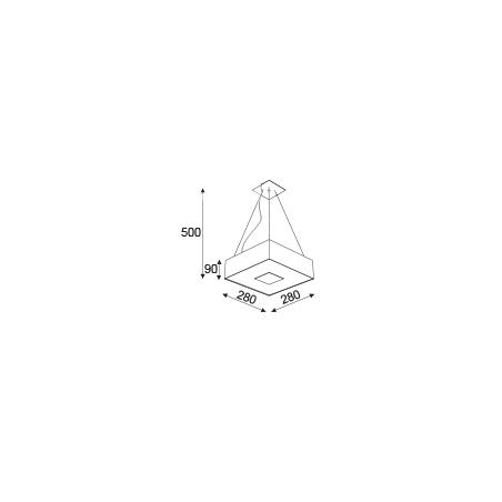 CLEONI VANDURA 1139W Hanging lamp E27