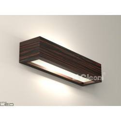 Cleoni CASPE 400 with bottom glass Wall lamp