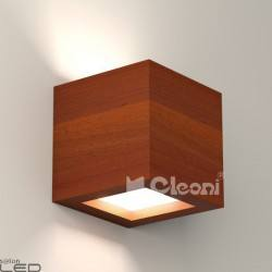 Cleoni CASPE 120 with bottom glass Wall lamp