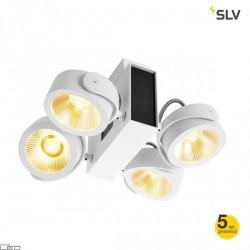 SLV TEC KALU quad LED 60W ceiling white, black