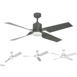 Ceiling fan TAU II white, natural iron LED 18W
