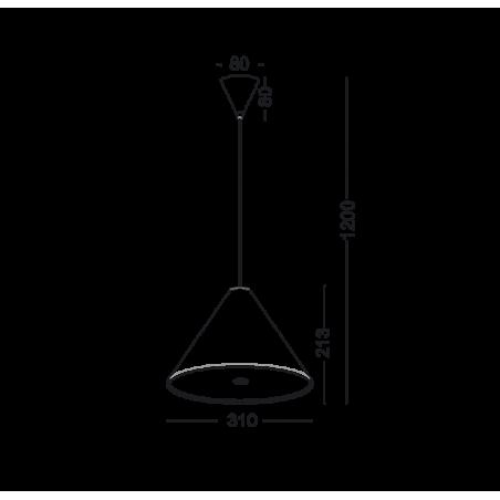 Lampa wisząca ELKIM KELIS 299 biała, czarna LED 18W