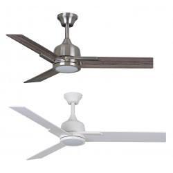 Ceiling fan DARWIN white, nickel brushed LED 15W